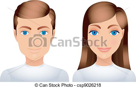 Clipart frau mann. Man and woman illustrations