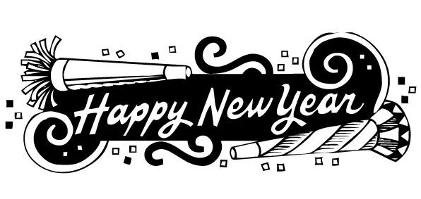 Free happy 2016 black & white clipart graphic black and white stock 77 Free Happy New Year Clipart - Cliparting.com graphic black and white stock