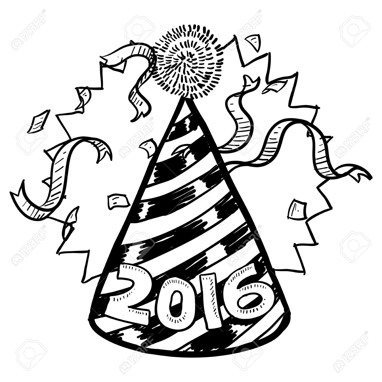 Clipart free 2016 new year black and white transparent stock Free Clipart New Years Day | Free download best Free Clipart New ... transparent stock