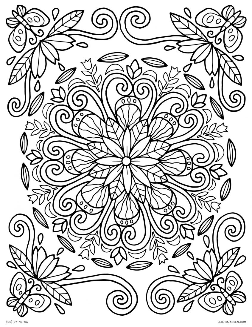 Clipart free adult coloring book flower mandala image stock Coloring: Lmj Coloring Page Spring Mandala Pages For Adults Nature ... image stock