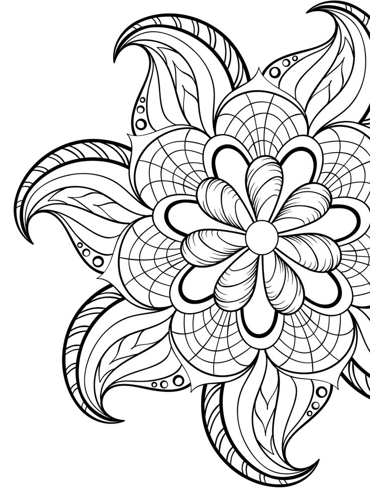 Clipart free adult coloring book flower mandala picture royalty free stock 20 Gorgeous Free Printable Adult Coloring Pages … | pictures | Manda… picture royalty free stock