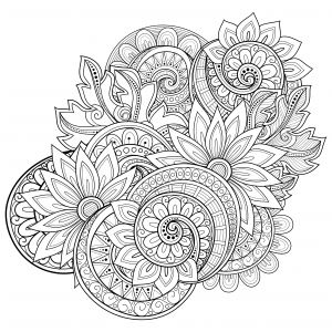 Clipart free adult coloring book flower mandala clip royalty free download Flowers Advanced Coloring Pages 20 | COLORING | Flower coloring ... clip royalty free download