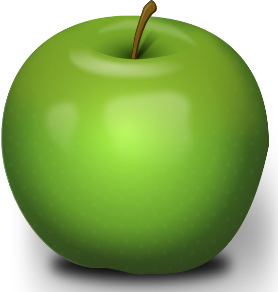 Clipart free apple transparent png stock Green Apple Clipart - Free Clip Art - Clipart Bay png stock