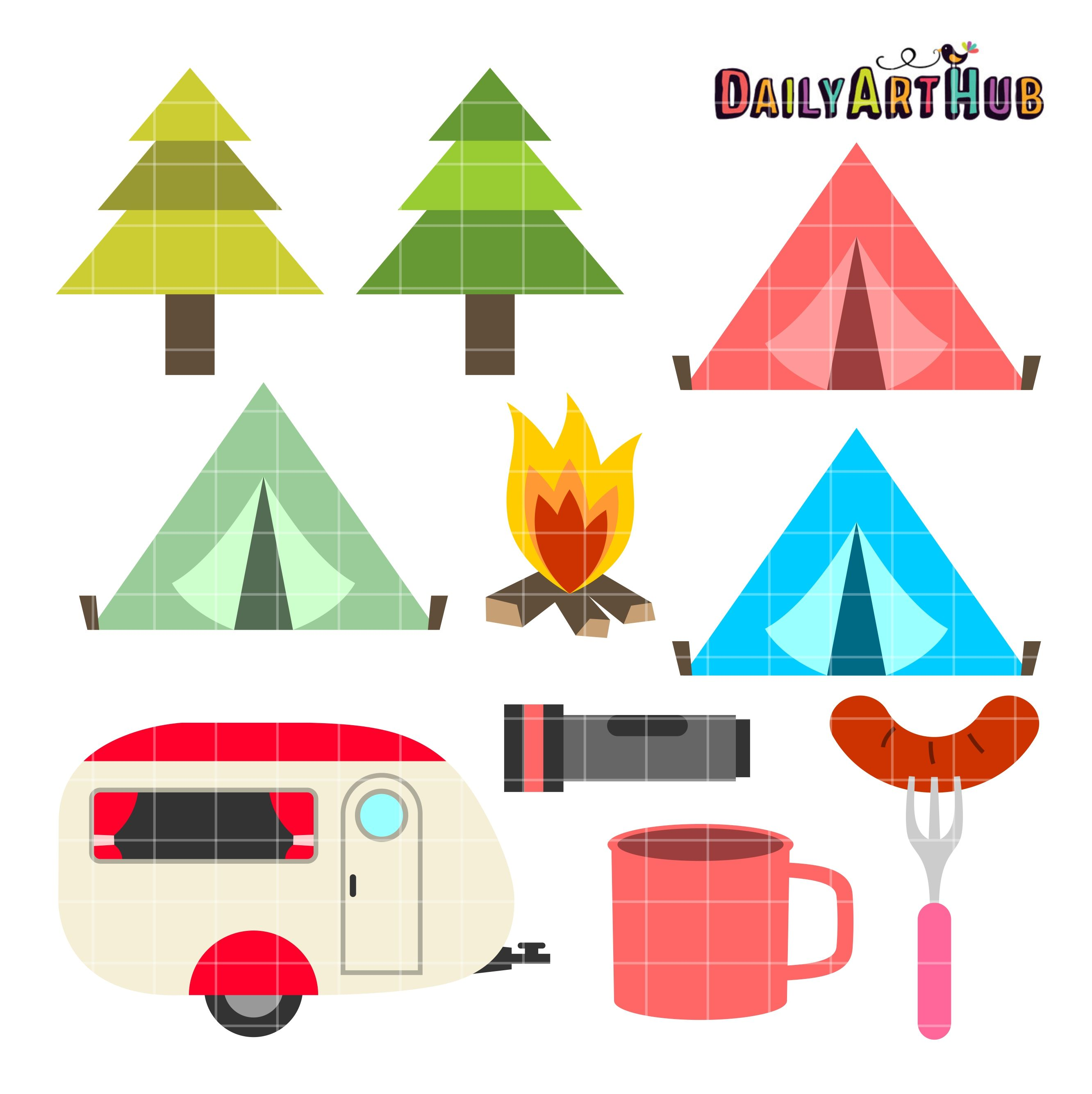 Free camping images clipart svg stock Camping Season Clip Art Set | SVG Cutting Files | Camping clipart ... svg stock