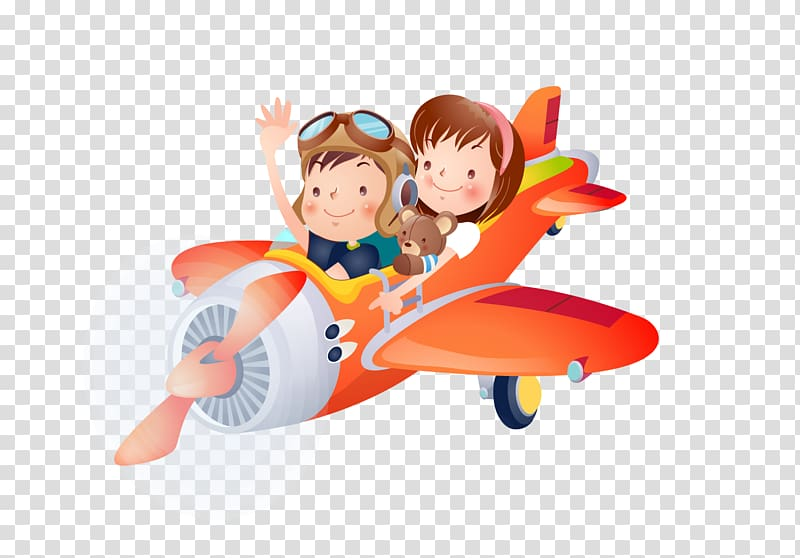 Clipart free cartoon using flahlights to park airplane at gate clipart freeuse download Free download | Red monoplane illustration, Airplane Child Cartoon ... clipart freeuse download