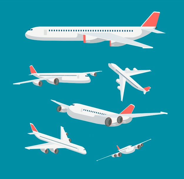 Clipart free cartoon using flahlights to park airplane at gate vector black and white download Airplane Vectors, Photos and PSD files | Free Download vector black and white download