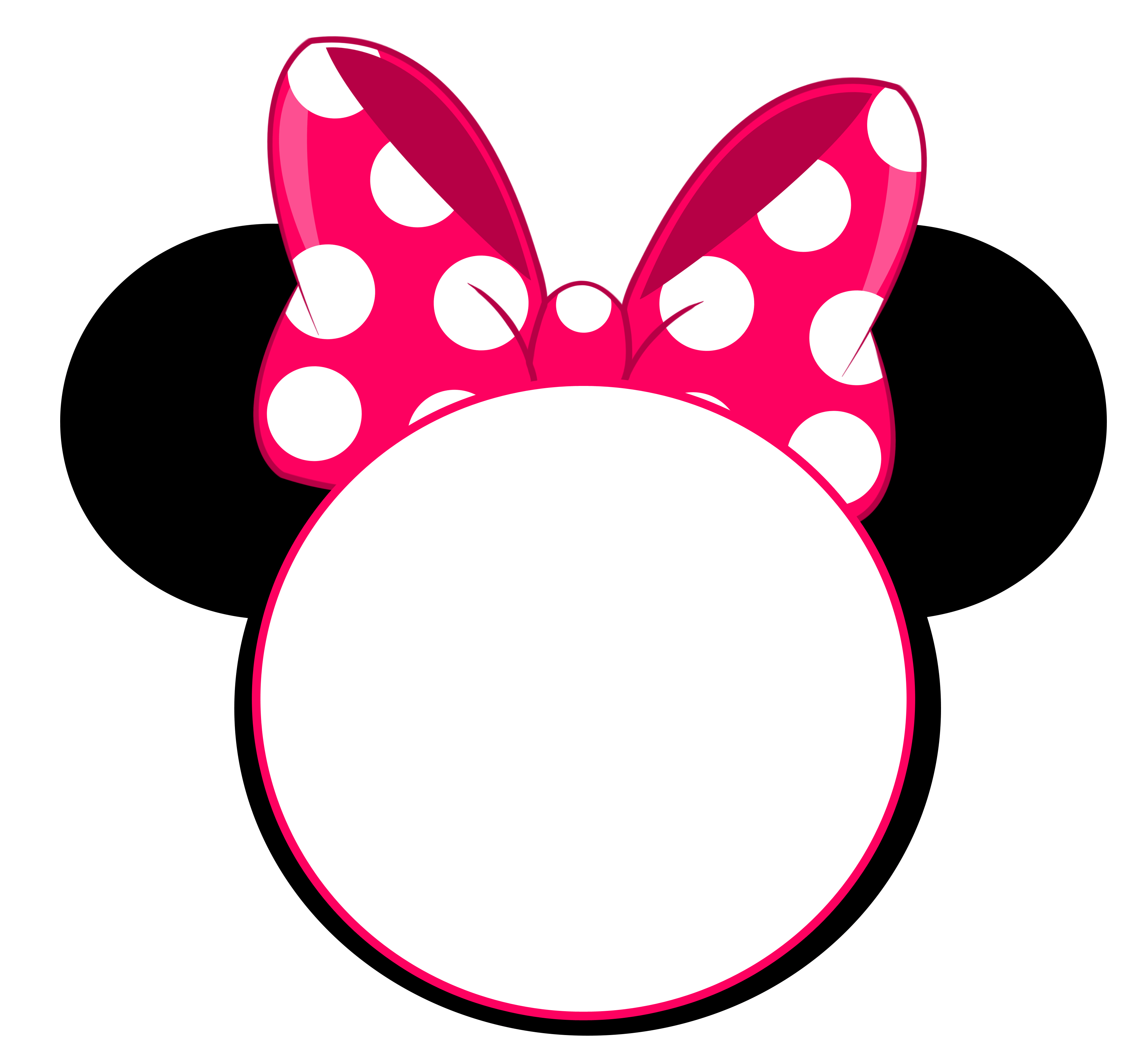 Minnie mouse crown ears clipart banner freeuse library FREE Minnie Mouse Head Invitation Template | Pinterest | Invitation ... banner freeuse library