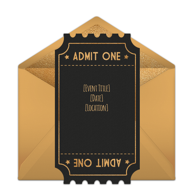 Clipart free football ticket stub clip download Free Award Show Ticket Invitations | Pinterest | Free party ... clip download