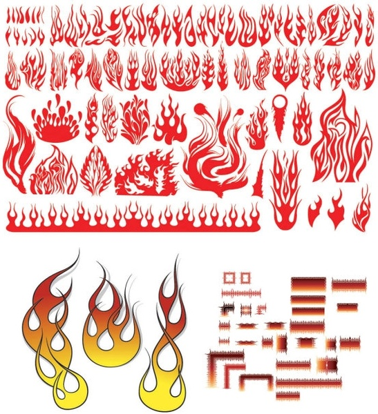 Fire flame clip art. Clipart free for commercial use