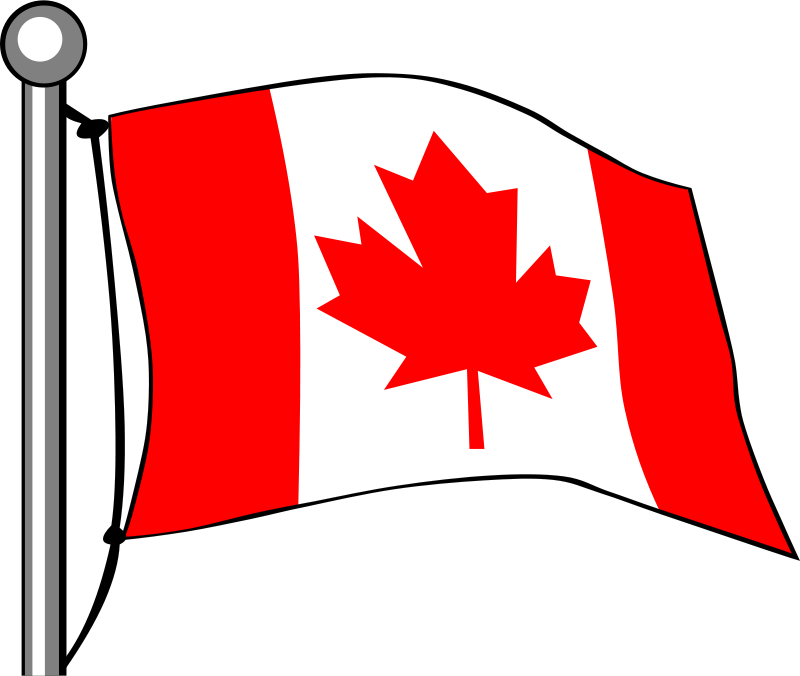 Clipart free images canadian flag png library stock Free Clipart: Canada Flag - Flying | Gerald_G png library stock