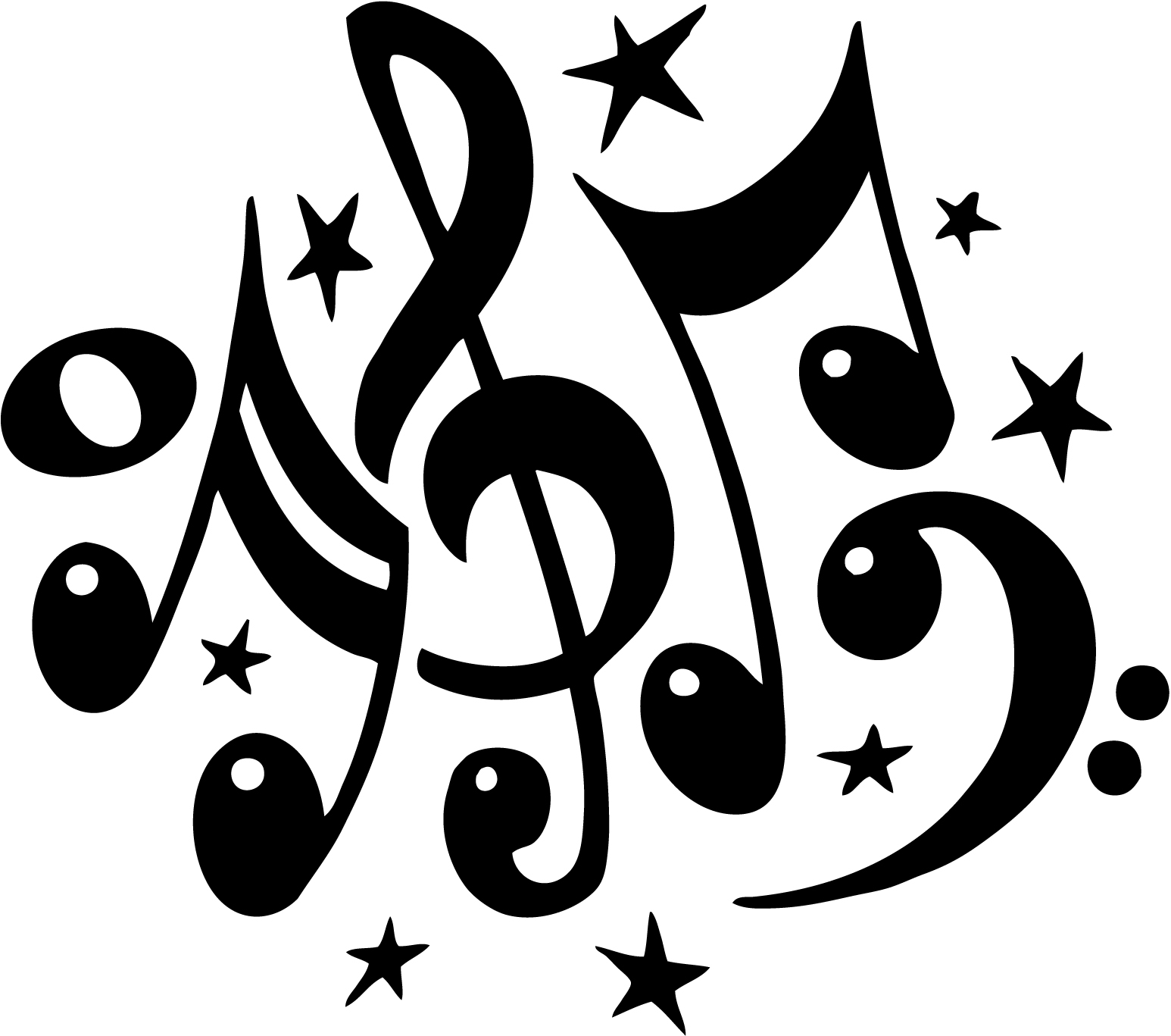 Notes musical clip art. Free music clipart
