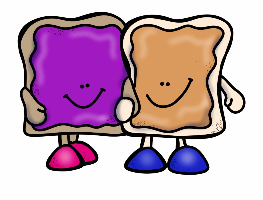 Materials for peanut butter and jelly sandwich clipart