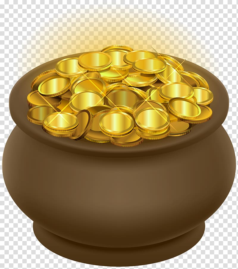 Clipart free pot of gold and scroll graphic black and white library Free download | Gold coin lot in brown jar, Gold coin Illustration ... graphic black and white library