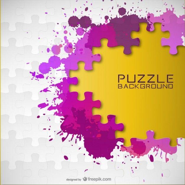 Clipart free preschool paint splatter puzzle image download Vector paint splash puzzle background Free Vector | Graphic Design ... image download