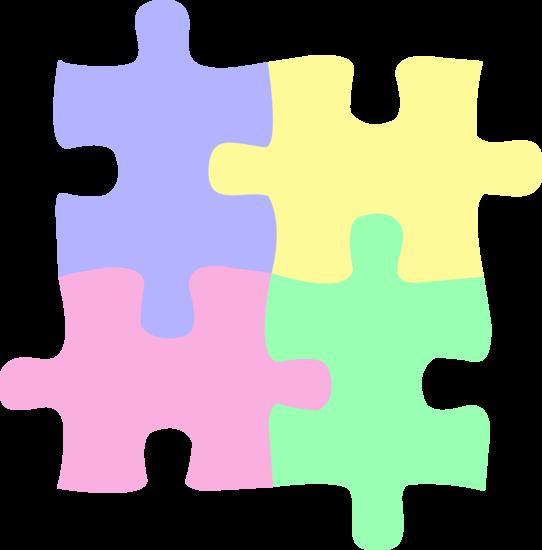 Clipart free preschool paint splatter puzzle graphic free download Four Pastel Colored Puzzle Pieces - Free Clip Art -- Love U 2 Pieces ... graphic free download