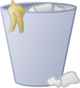 Clipart free public domain trashcan vector banner freeuse library free recycle clip art | free-vector-full-trash-can-clip ... banner freeuse library