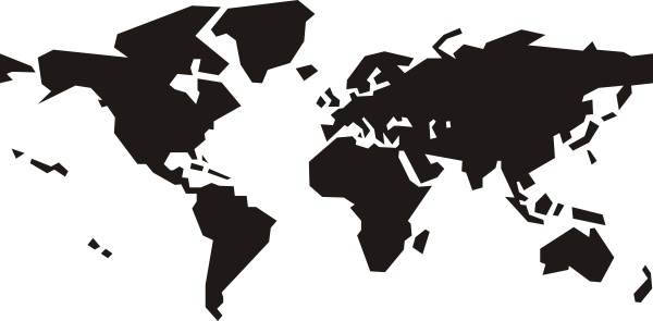Clipart free world map banner free World Map clip art Free vector in Open office drawing svg ( .svg ... banner free