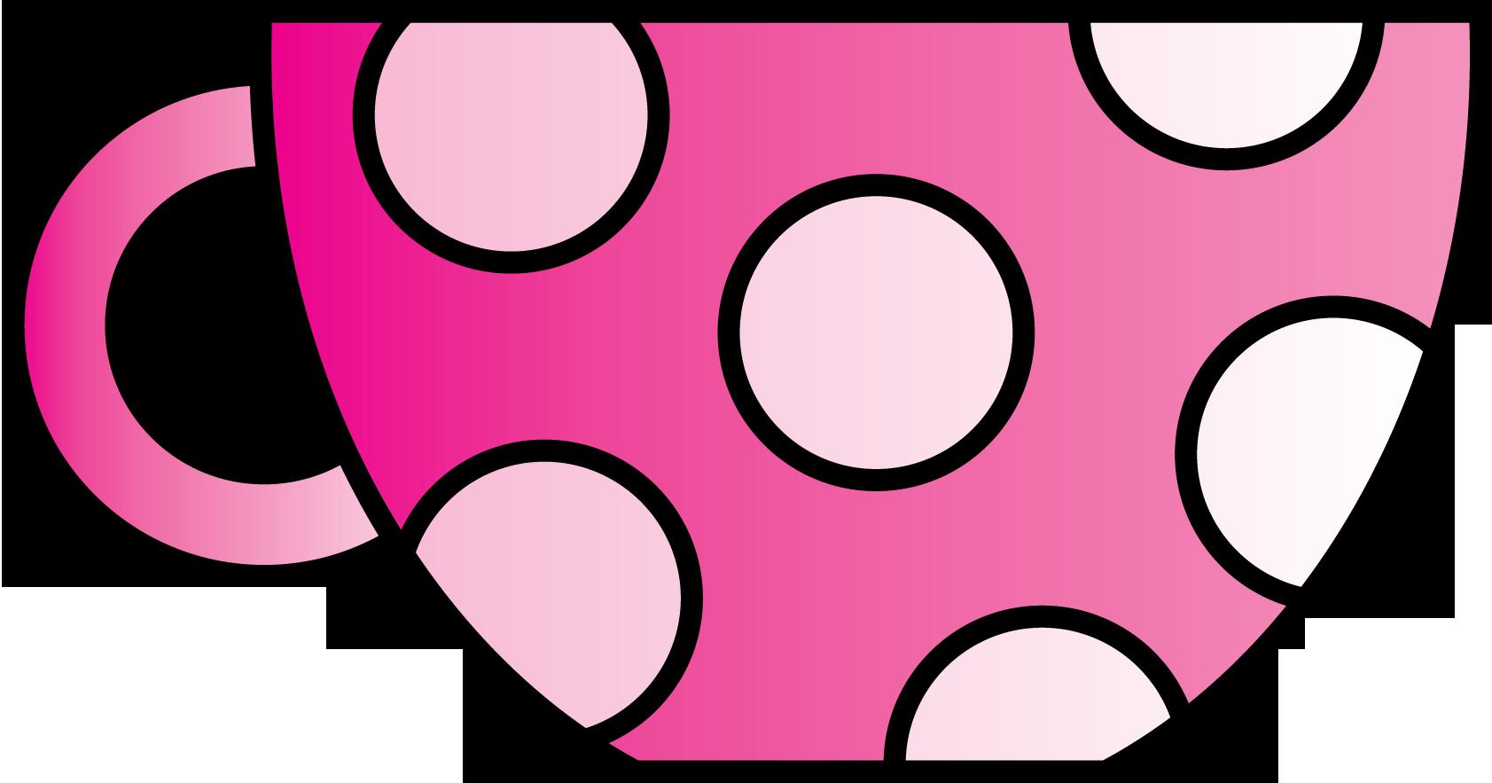 Clipart freebie vector library library Pink Polkadot Teacup Clipart Freebie   revidevi.wordpress.com vector library library