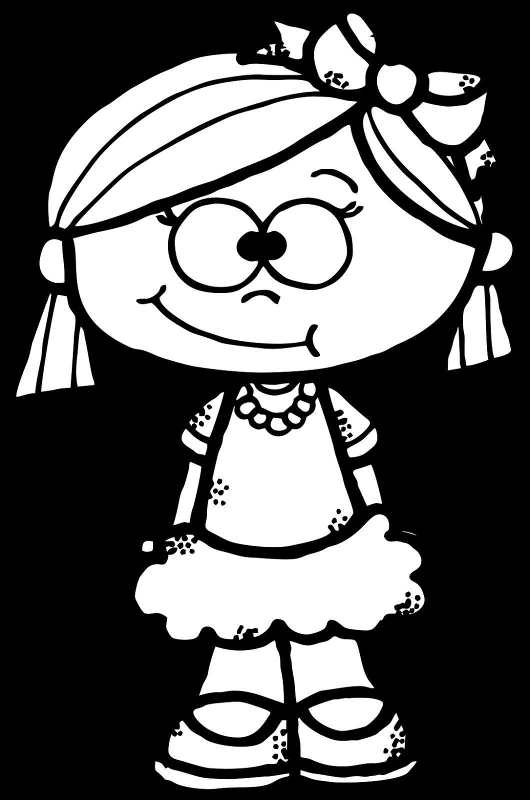 Clipart freebie png free library WorksheetJunkie: Cute girl Clipart Freebie   Digital images   Girl ... png free library