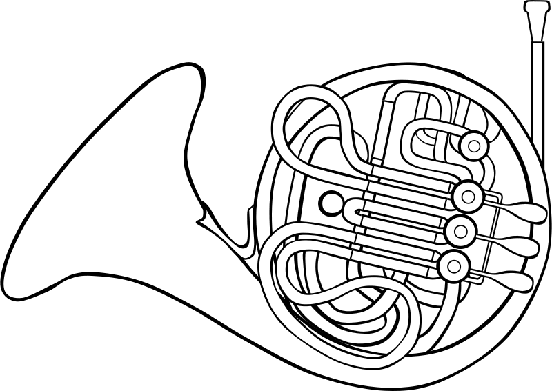 Free french horn clipart clip art library download Free Clipart: French Horn | Gerald_G clip art library download
