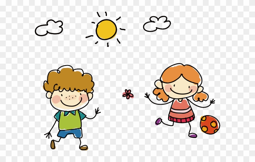 Clipart friends playing picture black and white Drawing Clipart Childhood - Playing With Friends Drawing - Png ... picture black and white