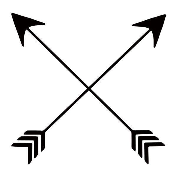Clipart friendship symbols svg black and white download Friendship Arrows | Native American Symbols | Arrow tattoos, Crossed ... svg black and white download