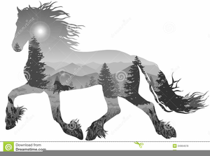 Clipart friesian jpg library Friesian Horse Clipart | Free Images at Clker.com - vector clip art ... jpg library