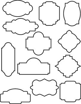 Clipart frmes clip free download 24 Decorative Frames Clipart, Outline Frames, Filled Frames, Borders, Labels clip free download