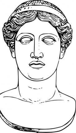 Hera head clip art. Clipart from juno