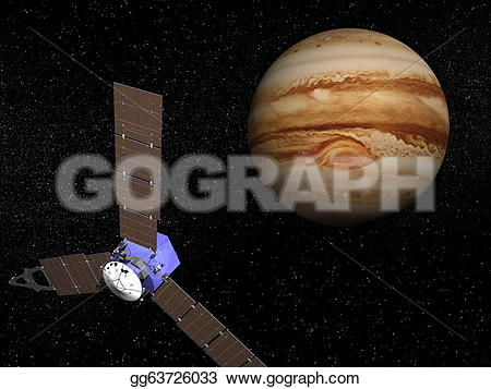 Stock illustration spacecraft near. Clipart from juno