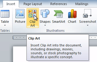 Clipart from word. Inserting clip art and