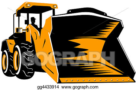 Clipart front end loader clipart royalty free Stock Illustration - Front end loader. Clipart gg4433914 - GoGraph clipart royalty free