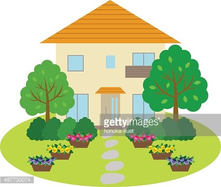 Clipart front yard clip freeuse download House With Front Yard premium clipart - ClipartLogo.com clip freeuse download