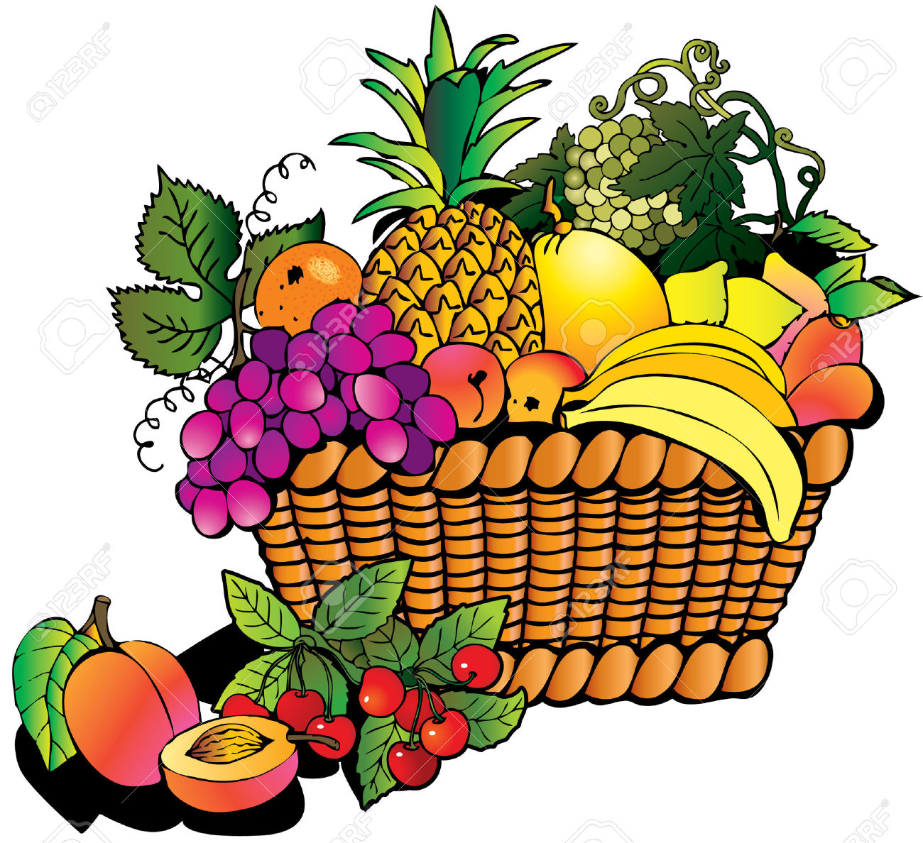 Fruitbasket clipart banner freeuse library 62+ Fruit Basket Clipart | ClipartLook banner freeuse library