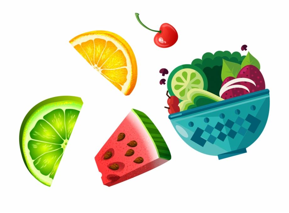 Clipart fruit salad clip art Picture Stock Raspberry Clipart Fruit Salad - Cartoon Fruit Free Png ... clip art