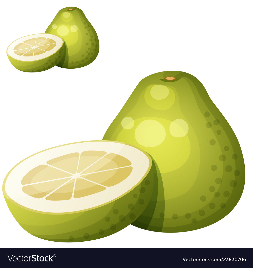 Clipart fruit with faces pummelo banner transparent library Pomelo fruit cartoon icon isolated on vector image banner transparent library