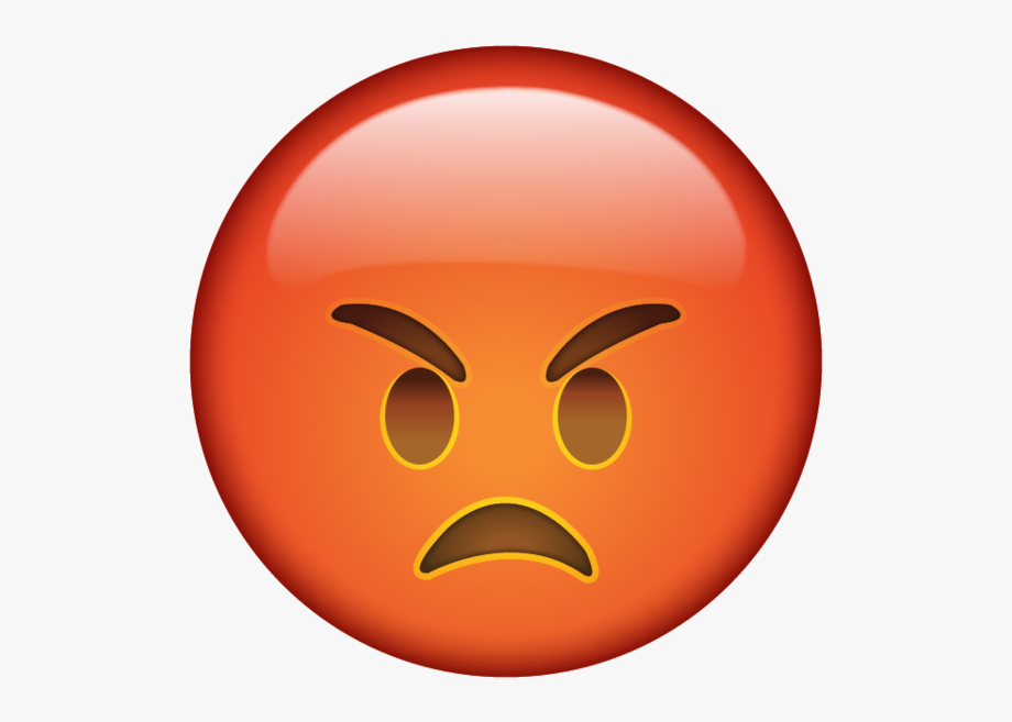 Clipart frustrated face picture free library Annoyed Face When You\'re So Mad That Red In The Face - Angry Emoji ... picture free library