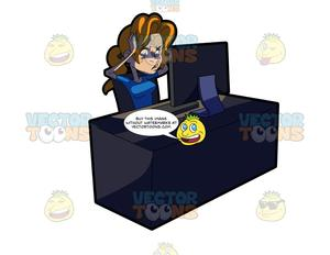 Clipart frustrated woman sitting in front of computer png freeuse A Woman Frustrated Over Her Work png freeuse