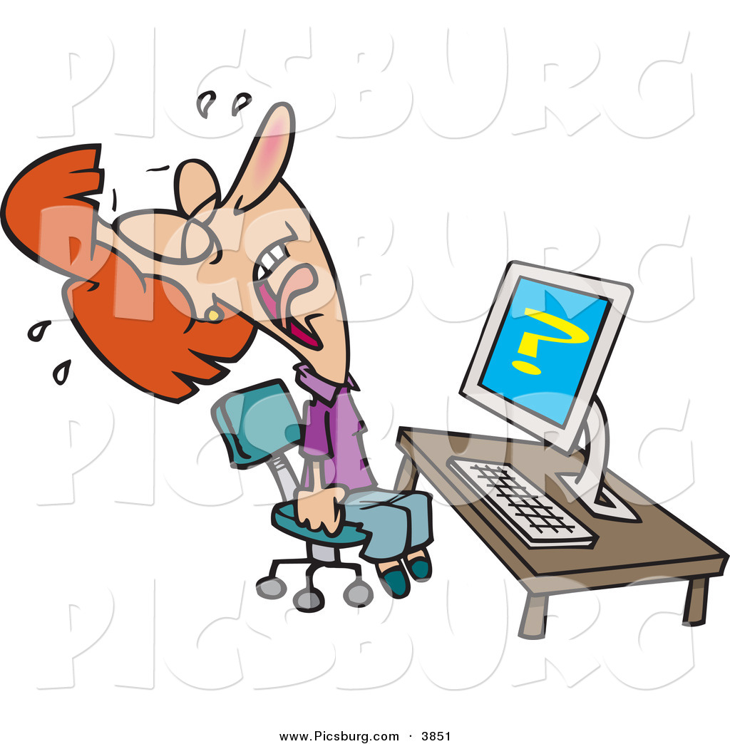 Clipart frustrated woman sitting in front of computer svg library library Frustration Clipart | Free download best Frustration Clipart on ... svg library library