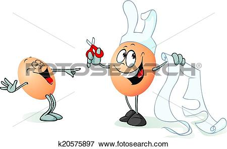 Clipart funny easter egg vector library stock Clip Art of funny easter egg character - easter bunny ... vector library stock