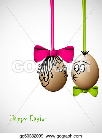 Clipart funny easter egg vector Vector Stock - Funny easter eggs - happy easter card. Stock Clip ... vector