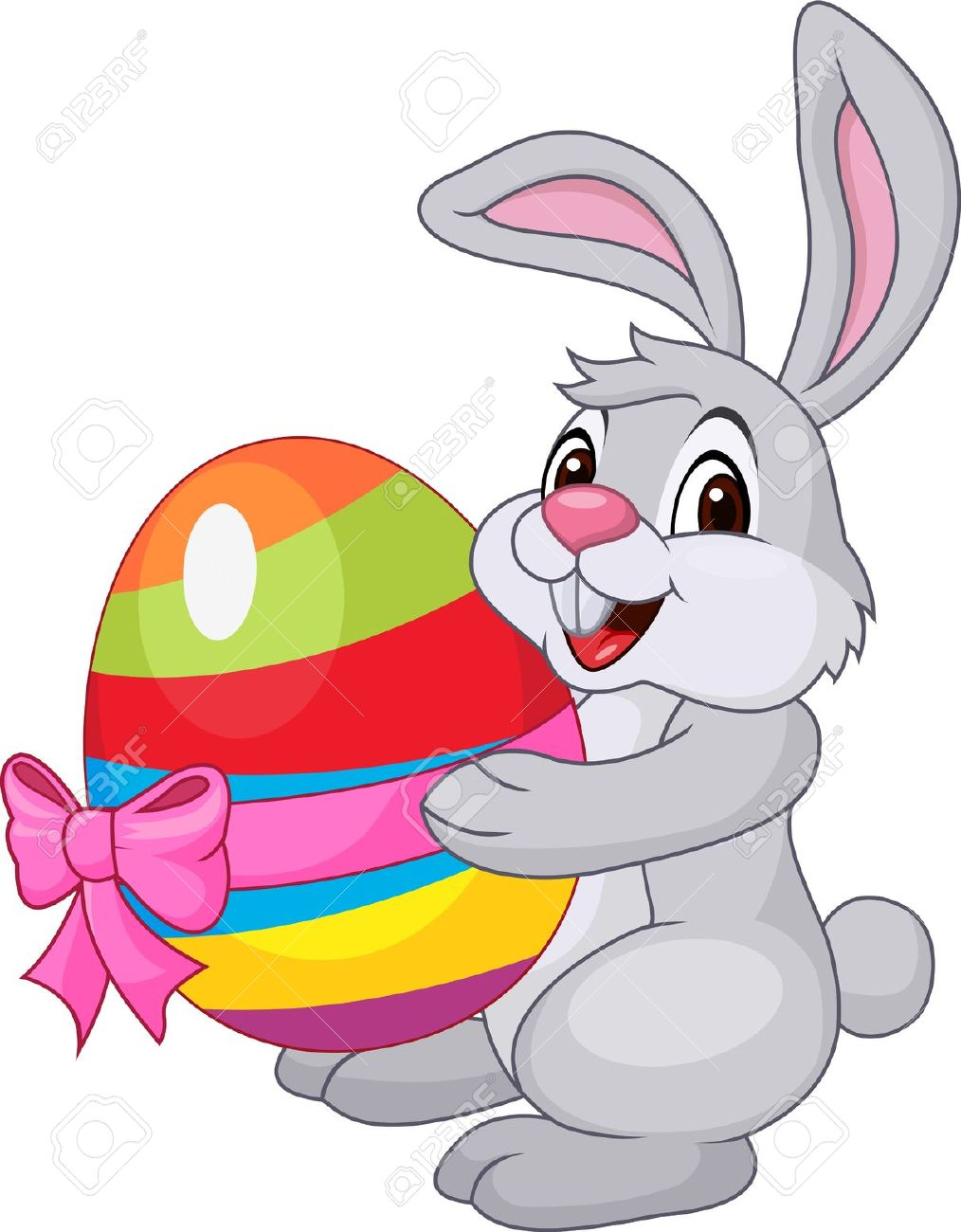 Clipart funny easter egg svg royalty free library Cute Rabbit With Easter Egg Royalty Free Cliparts, Vectors, And ... svg royalty free library