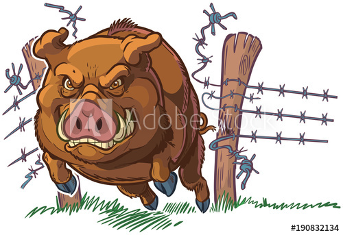 Clipart funny two hogs going hog wild