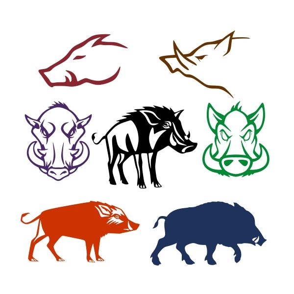 Clipart funny two hogs going hog wild image library stock Pin by CuttableDesigns on Animals | Wild boar, Pig illustration, Hog ... image library stock