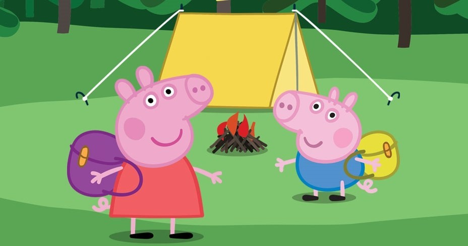 Clipart funny two hogs going hog wild svg library stock Kids can go hog wild with \'Peppa Pig\'s Adventure\' at Akron Civic ... svg library stock