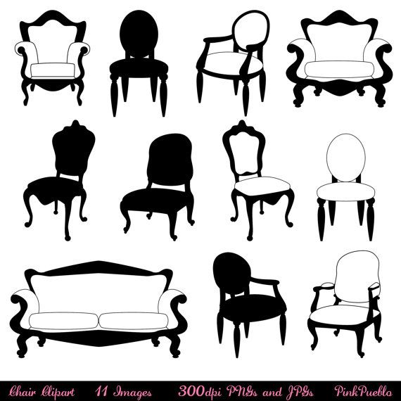 Clipart furniture pictures svg free library Chair Clip Art Clipart, Chair Silhouettes, Furniture Clip Art ... svg free library