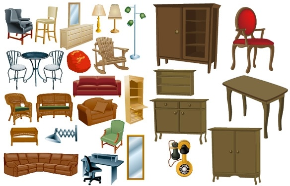 Clipart furniture pictures clip art freeuse library A variety of furniture furniture clip art Free vector in ... clip art freeuse library
