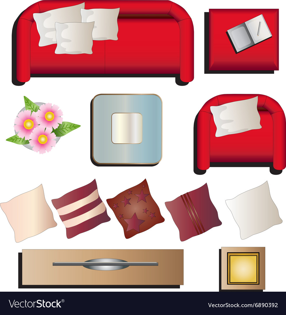 Clipart furniture top view png freeuse download Living room furniture top view set 10 for interior png freeuse download
