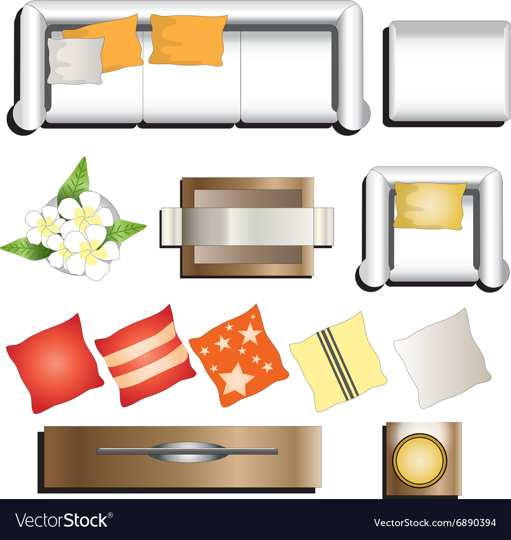 Clipart furniture top view image free Living room furniture top view set 11 for interior image free
