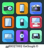 Clipart gadgets clip transparent download Gadgets Clip Art - Royalty Free - GoGraph clip transparent download